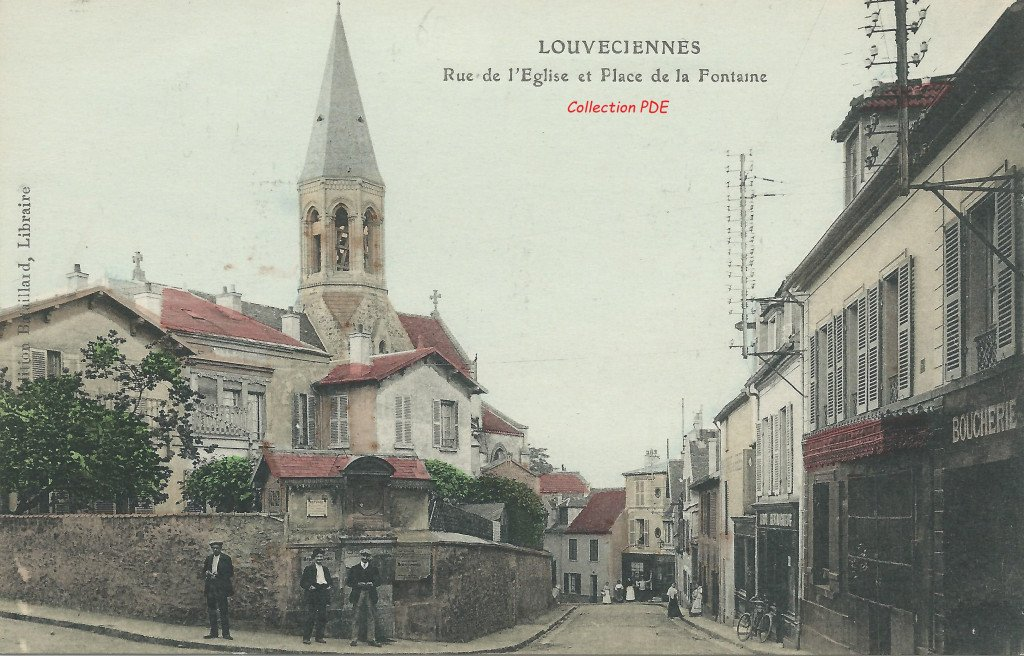 Eglise - Ancienne Mairie - Fontaine 15 PDE