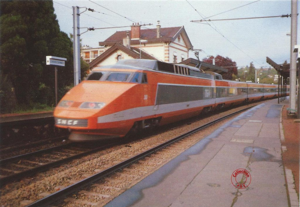 TGV gare de Louveciennes 20 octobre 1984
